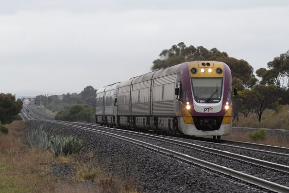 VLocity 3VL54 and VL04 on an up Geelong service heads towards Little River