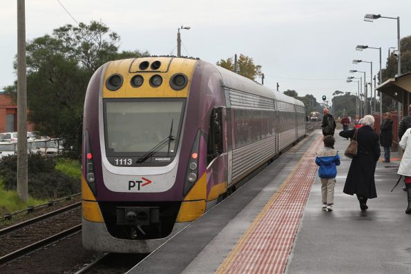 VLocity VL13 departs South Geelong bound for Waurn Ponds