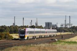 VLocity VL53 leads a classmate out of Corio on the up