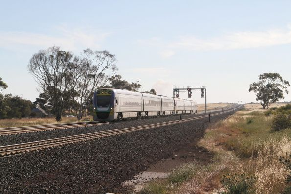 VLocity VL30 leads VL01 on an up Geelong service at Manor Junction