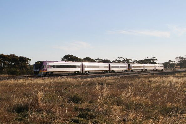VLocity VL67 and VL18 lead an up Geelong service at Manor Junction