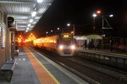 Solo VLocity VL15 on a down Geelong service at North Geelong station