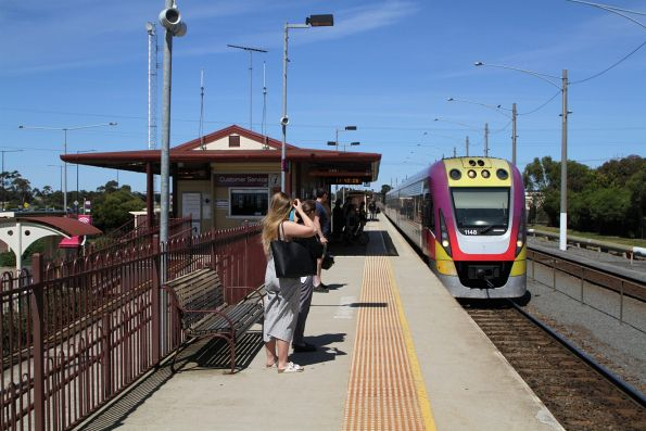 VLocity VL48 arrives into Marshall on an up Waurn Ponds service