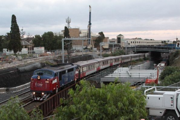 A60 leads the last A class hauled service, on the up at Footscray