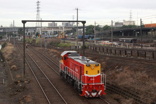 P11 heads light engine for South Dynon at Reversing Loop Junction