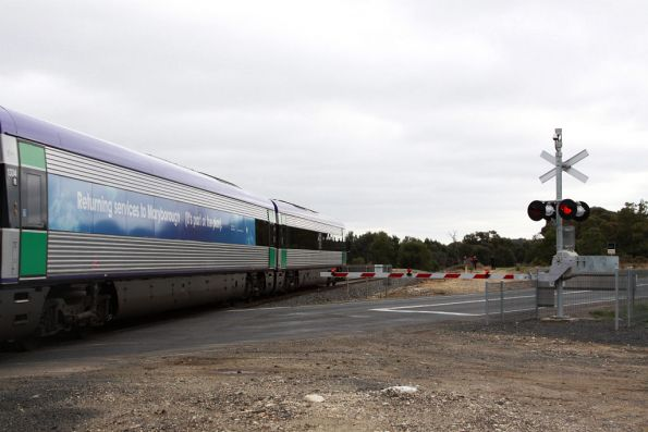 Running through the Midland Highway level crossing, upgraded with Federal stimulus money. Where was the state's $50 million actually spent on?