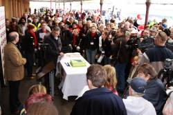 Media pack at Maryborough, along with a cake