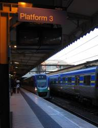VLocity VL23 at Flinders Street Station platform 3