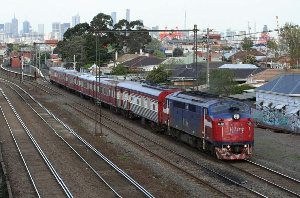 A60 with power van PCO2 and a grubby H set bound for Bacchus Marsh at Middle Footscray