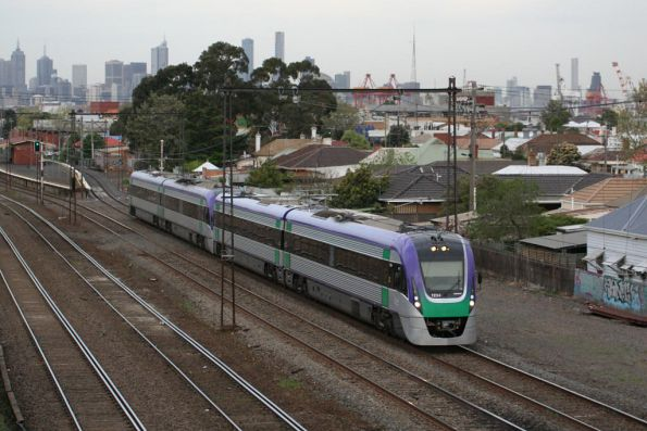 VLocity VL34 and classmate on the down at Middle Footscray