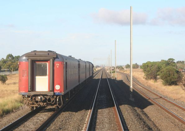 V/Line set FN9 on the down at Werribee Racecourse