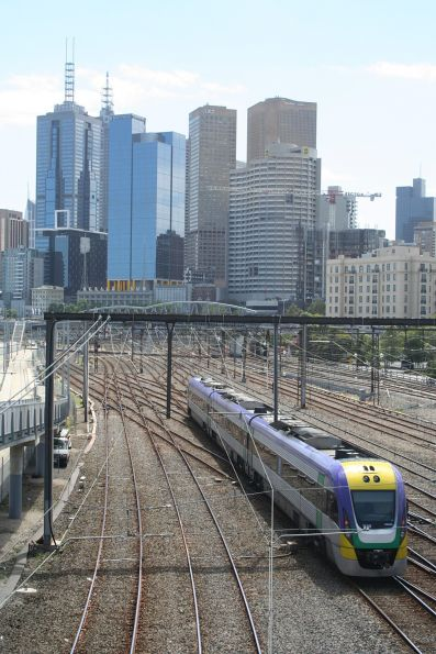VLocity 3VL40 heads into the city at Richmond Junction