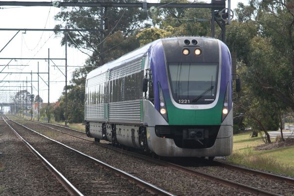 VLocity VL21 on a down Gippsland service at Huntingdale