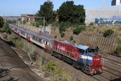 A very rusty P15 heads a down push-pull towards Footscray