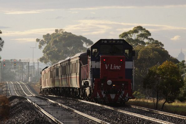 P18 trailing the consist towards the CBD