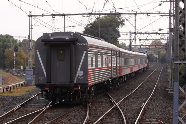 Power van PCJ492 now attached to set SN1, which has only 4 of 5 cars in the consist