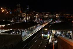 VLocity collects passengers at North Melbourne platform 6