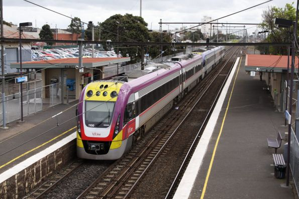 VLocity VL00 heads back out of Melbourne, on the down at West Footscray