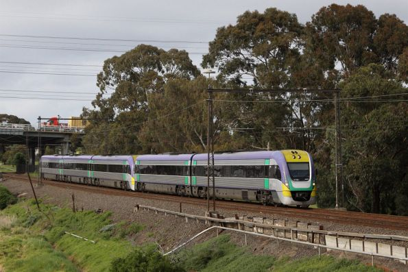 VLocity VL16 and classmate on the up at Yarraville