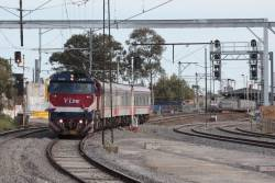 N465 leads the up Swan Hill past RRL works at Middle Footscray