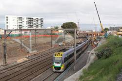 VLocity 3VL33 and classmate passing RRL works at Footscray