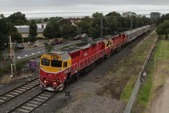 N459 and N452 double head the down Warrnambool service at Seddon