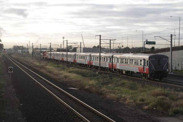 N457 leads an up Geelong service out of Williams Landing, bound for Melbourne