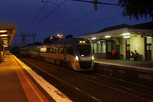 VLocity 3VL33 leads an up Geelong service into Werribee