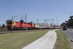 N453 leads the up Swan Hill service over the soon to be removed Ginifer Road level crossing at Ginifer