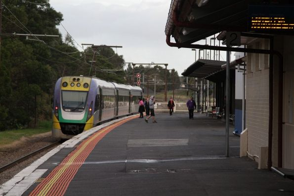 VLocity VL20 waiting at Berwick station due to the line towards Pakenham being closed following a fatality