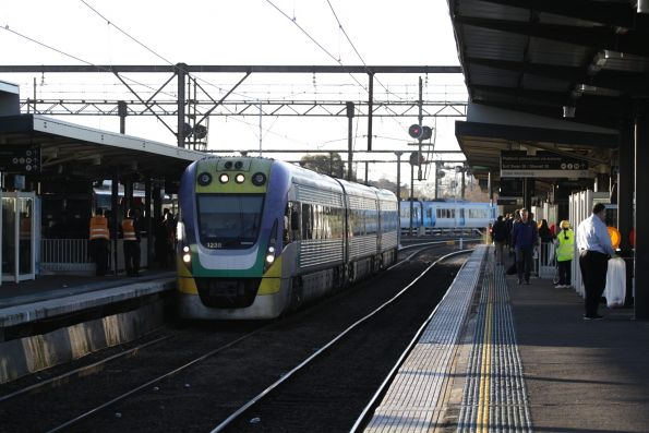VLocity VL38 on an up Gippsland service at Richmond station