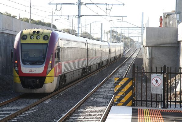 VLocity VL50 trails VL41 on an up Bendigo service at St Albans
