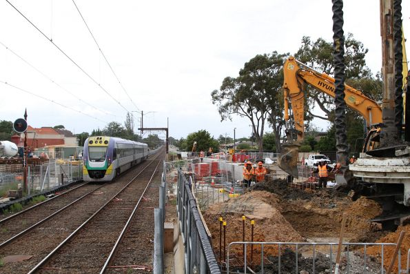 VLocity VL41 heads through Murrumbeena on a down Gippsland service