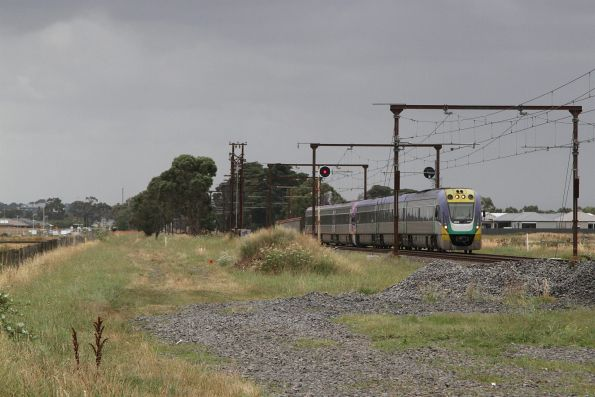 VLocity VL20 and classmate approach Beaconsfield on an up Gippsland service