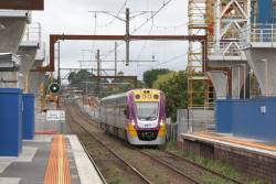 VLocity VL63 passes through Murrumbeena station on the up