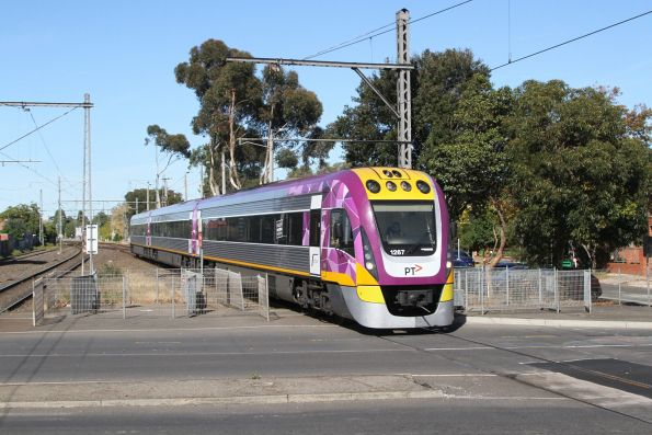 VLocity VL67 passes through Essendon on a down Seymour service