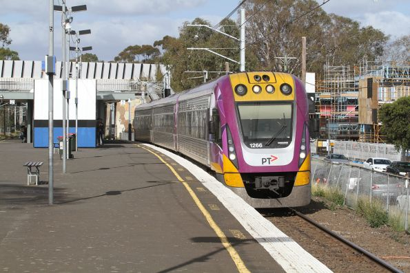 VLocity VL66 passes through Yarraman station on an up Traralgon service