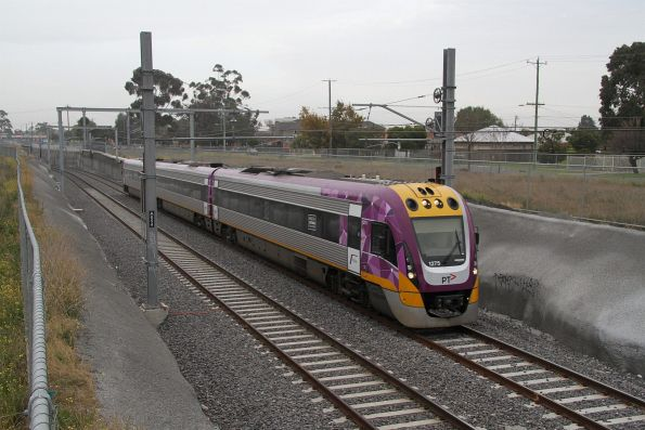 VLocity VL75 departs St Albans on a down Bendigo service