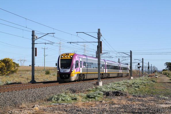VLocity VL57 on an up Bendigo service at Calder Park Drive