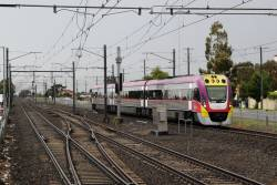 VLocity VL45 on a down Bendigo service at Watergardens