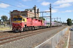 N467 leads the up Swan Hill service through Albion