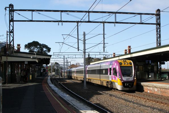 VLocity VL70 and classmate on the up at Caulfield