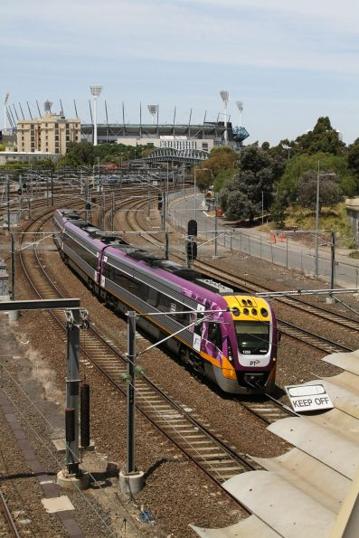 VLocity VL33 on an up Traralgon service at Richmond Junction