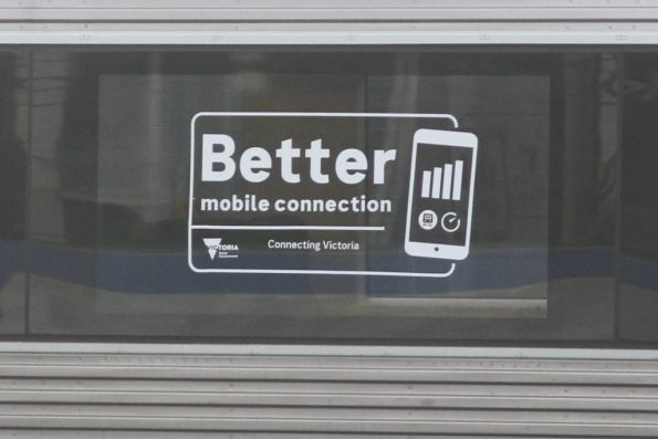 'Better mobile connection' decals on the side of VLocity VL57