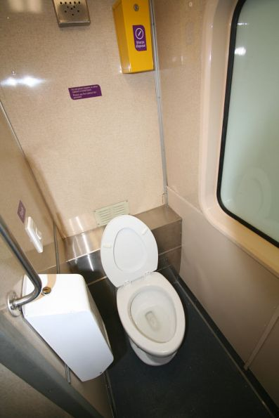 New toilet onboard a refurbished H set carriage