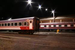 BZN252 in new V/Line livery, stabled at Geelong
