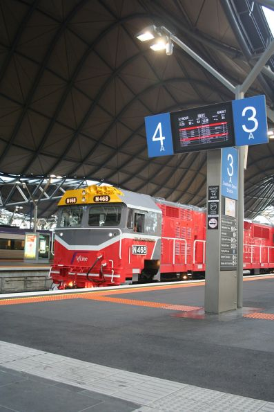 New liveried N468 at Southern Cross