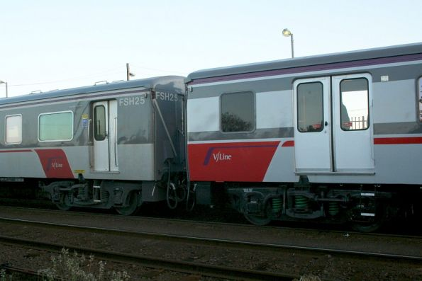 Contrast between 'original' version of the livery on FSH25 and the final version of FSH23