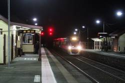 VLocity arrives into Clarkefield on a down Bendigo service