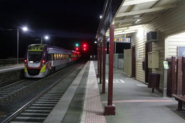 VLocity departs Clarkefield on a down Bendigo service